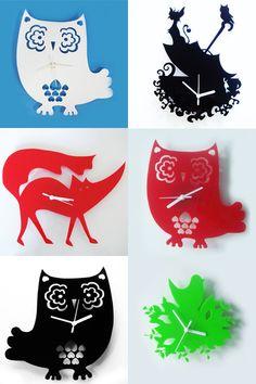Owl Acrylic Clock