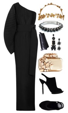 """""""Untitled #2475"""" by moxieremon on Polyvore featuring Solace, Gucci, Jimmy Choo, Jennifer Behr, Eddie Borgo, Christian Dior and Marni"""