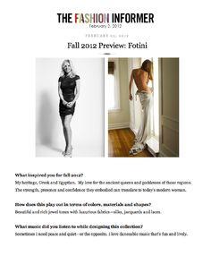 Fotini on The Fashion Informer.