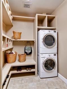 kleine waschküche einrichtungsidee