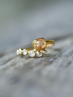 Melody Diamond Ring in Gold Inspired by a playful tune my dad plays on his banjo, a tune that never fails to cheer me up.