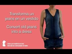 Convert old jeans into a dress Doll Patterns, Dress Patterns, Gilet Jeans, Robe Diy, Recycle Jeans, Old Jeans, Jeans Dress, Fabric Dolls, Old Women