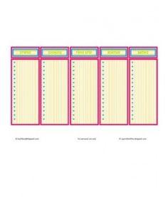 Summer Activities Planner - free printable