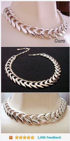 Classic Designer Signed CORO Light Goldtone Choker Necklace / Vintage Jewelry / Jewellery https://www.etsy.com/JoysShop/listing/197793463/classic-designer-signed-coro-light?ref=listings_manager_grid