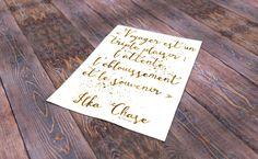 illustration typographique d'une citation d'Ilka Chase sur le voyage : Affiches, illustrations, posters par flavaura