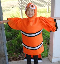 SALE Nemo Fish Inspired Costume Clown Fish by AlphabetCircus