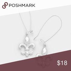 "|new| Fleur de Lis • Color : Silver • Theme : Fleur de Lis  • Size : 0.6"" W, 2.25"" L • Metal Fleur de Lis pull through earrings   .Ask About Custom Bundles.  .Poshmark Rules Only. No Trades.  .Additional Pics Available as Time Allows. GoodChic Jewelry Earrings"