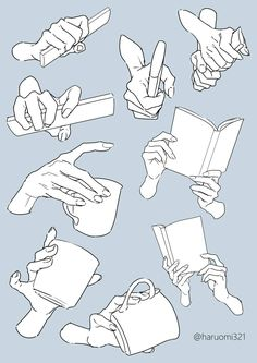 Hand pose reference for artists Drawing Techniques, Drawing Tips, Drawing Hands, Drawing Tutorials, Basic Drawing, Drawing Lessons, Painting Tutorials, Manga Drawing, Hand Drawing Reference