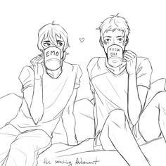 VLD fanart - Lance x Keith domestic bliss and personal mugs