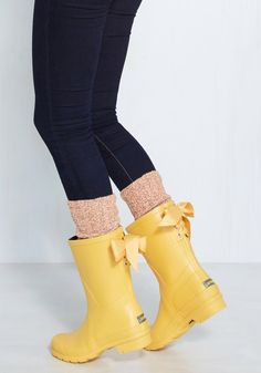 Good to the Last Raindrop Rain Boot in Rubber Duck, #ModCloth