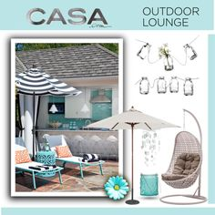 """""""Casa.com: Outdoor Lounge"""" by jasminerb on Polyvore"""