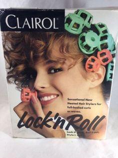 Clairol Lock N Roll Hair Curler Pageant 24 Hot Rollers Spoolies Bt 1 Orig Box