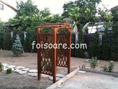 Pergola din lemn cu arcada x Arch, Outdoor Structures, Garden, Longbow, Garten, Lawn And Garden, Gardens, Wedding Arches, Gardening