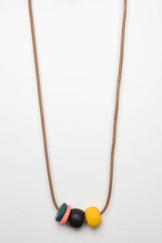 Beaded Clay Necklace by Kate Miss
