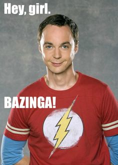 """Sheldon Cooper takes on the Ryan Gosling """"Hey Girl"""" meme: """"Hey Girl -- Bazinga!"""" Squires Squires Frentzel Elam for you Big Bang Theory, I Love To Laugh, Make Me Smile, Girl Memes, Hey Girl Meme, Funny Bunnies, Laugh Out Loud, Bigbang, The Funny"""
