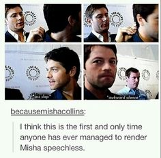 LOOK AT MISHA'S FACE IN THE THIRD PICTURE. THAT IS THE LOOK OF HOT SEXY PASSION AND YEARNING.