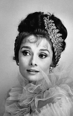 """Audrey Hepburn, promotional shot for """"My Fair Lady"""", in 1963 by Ceacil Beaton.- Such a beautiful lady she was. My Fair Lady, Jean Harlow, Audrey Hepburn Born, Audrey Hepburn Photos, Cecil Beaton, Divas, Rita Hayworth, Classy Women, Old Hollywood"""