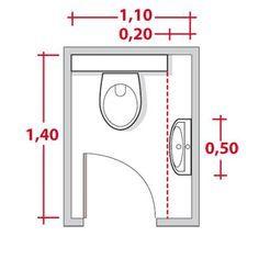 dimensions pour installer des wc et un lave mains