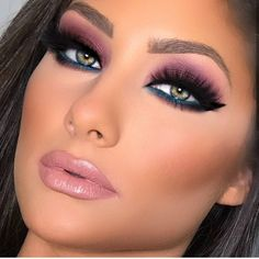 much is clinique eye makeup remover makeup small eyes eye makeup. - Eye make-up - Purple Makeup Looks, Blue Eye Makeup, Smokey Eye Makeup, Eyeshadow Makeup, Hair Makeup, Sexy Eye Makeup, Purple Smokey Eye, Eye Brows, Black Makeup