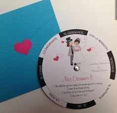 Wedding invitation, spin the wheel invitation