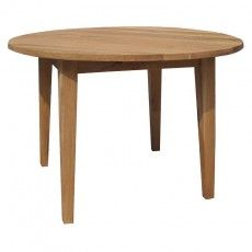 Brooklyn Oak Round Dining Table Made from Top quality American and Russian white oak G Plan Furniture, Solid Oak Furniture, Dining Room Furniture, Online Furniture, Beds Online, Round Dining Table, Brooklyn, Interior, Home Decor