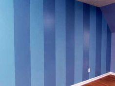 30 fotos e ideas para decorar y pintar las paredes a rayas.
