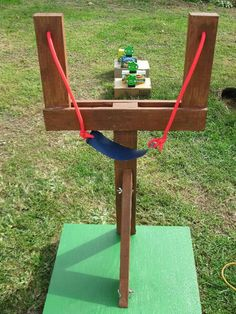 Life size ANGRY BIRDS GAME for the back yard DIY