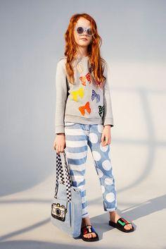 Stella McCartney Kids Blue Stripes and Dots Loan Jeans 9a7b7f1b629