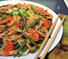 My Recipe Journey: Thai Satay Udon Noodles!