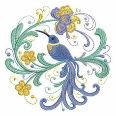 Crewel Embroidery, Embroidery Patterns, Rosemaling Pattern, Hummingbird Art, Giraffe Art, Embroidery Services, Free Machine Embroidery Designs, Quilt Patterns Free, Vintage Birds