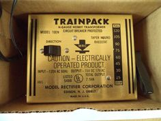 MRC VINTAGE TRAINPACK CONTROL N GAUGE TOY TRANSFORMER 100-N EDISON NJ USA  #MAXIMUMRAILROADCONTROL