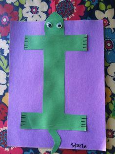 Miss Maren's Monkeys Preschool: Iguana Template - letters, kindergarten, preschool, alphabet craft, i iguana craft, alphabet animals, i is for iguana