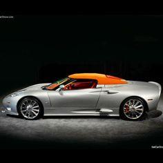 Spyker C8 Aileron Spyder orange roof and interior!