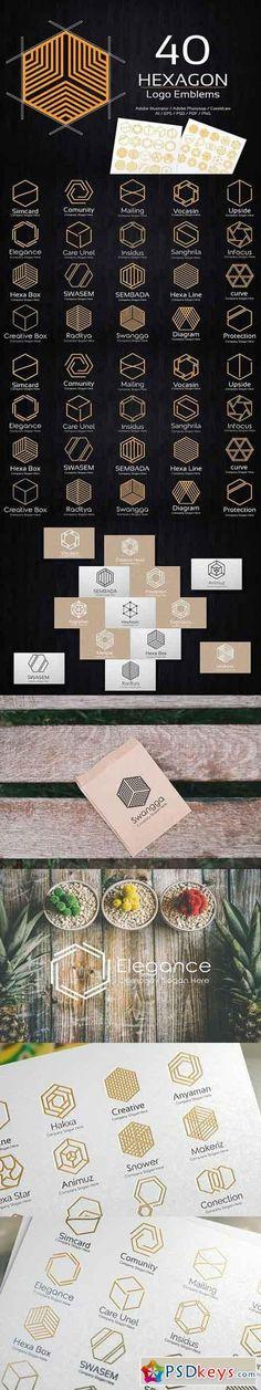 Hexagon Logo Emblems 1137195