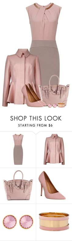 """Pink Power"" by kiffanyl ❤ liked on Polyvore featuring Reiss, Ted Baker, Ralph Lauren, Office, Henri Bendel and Forever 21"