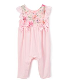 Take a look at this Nanette Lepore Girls Pink Rosette Playsuit - Infant today!