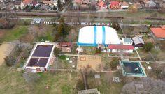 Drónfelvétel a Sárrét Kincse fürdőről. Basketball Court