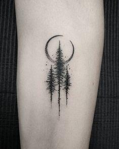 101 Amazing Pine Tree Tattoo Ideas Will Love! Pine Tattoo, Et Tattoo, Piercing Tattoo, Piercings, Tattoo Moon, Bff Tattoos, Body Art Tattoos, Tatoos, Unique Tattoos