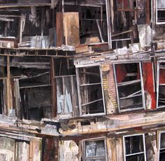 American artist Seth Clark creates intriguing mixed media collages focused on deteriorating architecture. Urban Life, Urban Art, Collage Architecture, Grid Architecture, Collages, Art Du Collage, Art Alevel, Ruined City, Grid Design