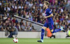 Download wallpapers Ivan Rakitic, 4k, FC Barcelona, footballers, match, La Liga, Barca, soccer, football club, Barcelona, FCB, creative, LaLiga, Barcelona FC