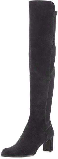 Stuart Weitzman 5050 Mid Boot, Black on shopstyle.com