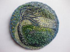"Art Embroidery Landscape "" Wind Swept""."