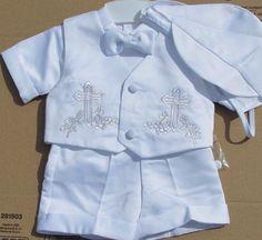 Gift Baby Boy Cross Vineyard Silver Baptism by Christening1965