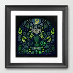 Sage of Forest Framed Art Print by Joshua A. Biron - $30.00