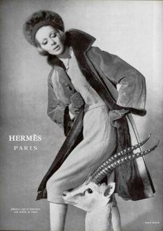 Hermès ad , 1970s Guess Models, Vintage Fur, Hermes Vintage, Moving To Chicago, Fashion Advertising, Paco Rabanne, Carven, Movie Stars, Supermodels