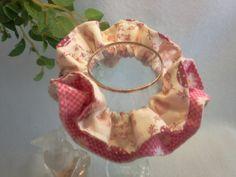 "Japanese hand kawaii shushu / Reversible and Frilled Scrunchy / Scrunchie - 3.9"" (10cm) / #29 by YuminaCafe, ¥500"