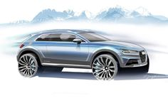 Audi's New concept SUV Teases out