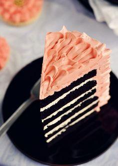 Peach & chocolate cake