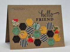 Stamp n Piece: Hexagon Fun - Hello Friend