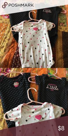Carters polka dot bundle Carters polka dot bundle Carter's One Pieces